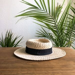 Melrose and Market Fancy Weave Wide Brim Hat